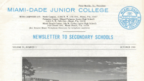 A newsletter to secondary schools hailing the soon to open South Campus (Kendall)