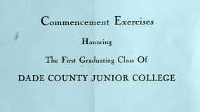 A scanned copy of the program for the College's first commencement exercise