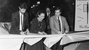Ribbon cutting for the 1989 Miami Book Fair International