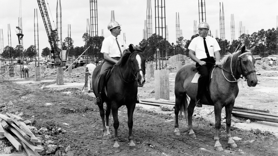 Kendall campus construction in 1965