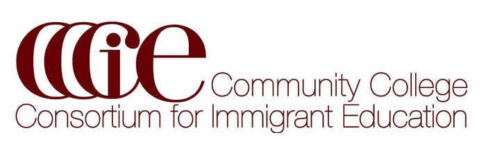 Logo showing the text CCCIE: Community College Consortium for Immigrant Education