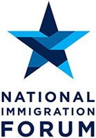 Logo showing the text National Immigration Forum