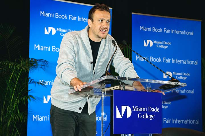 Jason Segal presenting at the MIami Book Fair