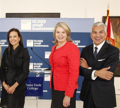 Dina Habib Powell, Margaret Spellings and Javier Palomárez