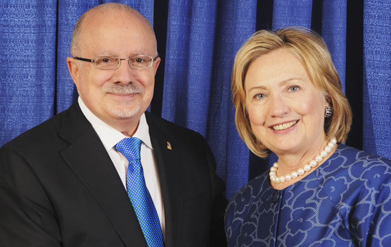 President Padrón with Hillary Clinton