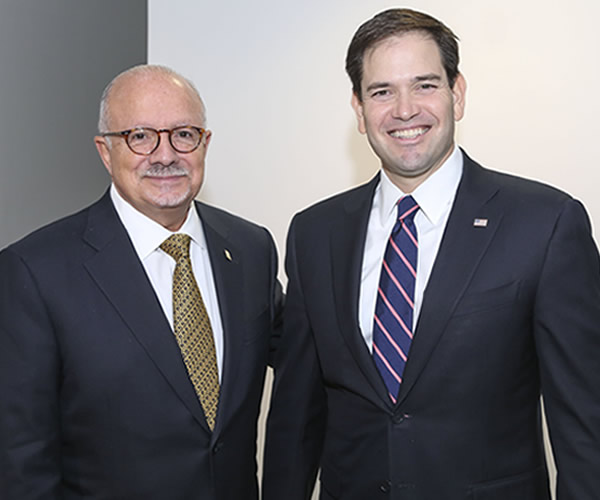 President Padrón with Marco Rubio