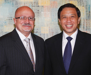 MDC President Padrón and Zhang Yesui, China's Ambassador to the United States, during a recent visit