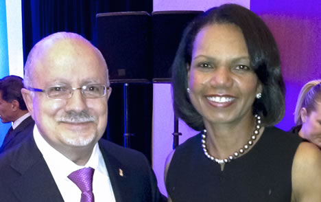 President Padrón and Condoleezza Rice