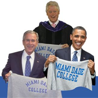 Presidents Bush, Clinton and Obama