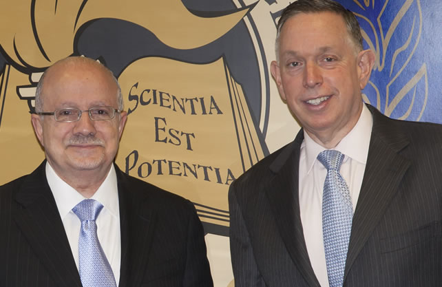 President Padrón and Michael M. Kaiser