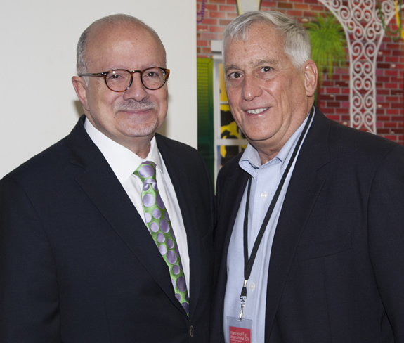 President Padrón and Walter Isaacson