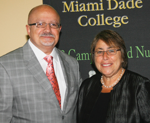 MDC President Padrón and U.S. Under Secretary of Education Dr. Martha Kanter at the National Community College Hispanic Council's (NCCHC)