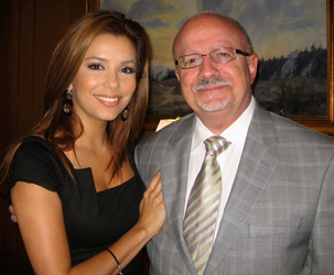 Eva Longoria Parker and MDC President Padrón at a recent meeting of the National Museum of the American Latino Commission