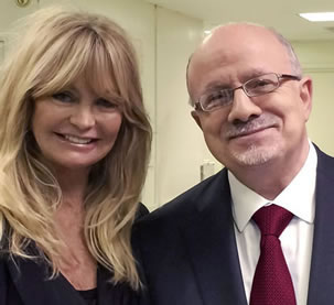 Goldie Hawn and President Padrón