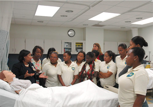 Haitian nurses training at Medical Campus