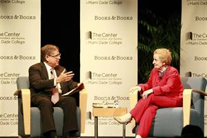 Alberto Ibargüen and Madeleine Albright