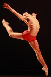 Dancer leaping in air