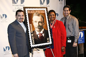 South Florida commemorative Black Heritage Month Stamp of Charles W. Chestnutt
