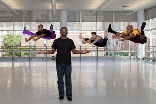 Robert Battle rehearsing Alvin Ailey dancers