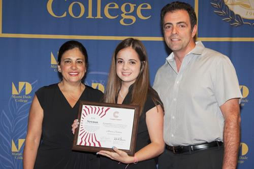 Monica Bustinza and parents