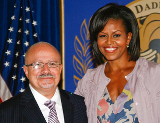 Dr. Eduardo J. Padrón and First Lady Michelle Obama