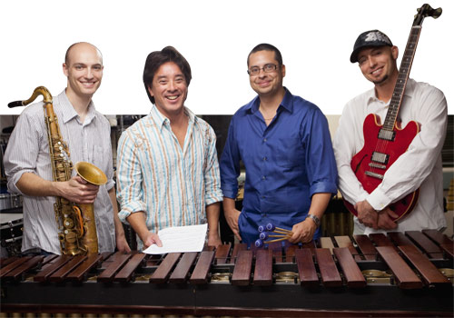 Saxophonist Matt Vashlishan, MDC associate professor and pianist Dr. Alan Ngim, percussionist Sergio Carreno and guitarist Aaron Lebos