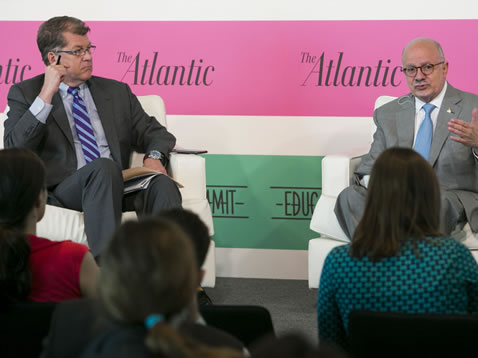 Steve Clemons and President Padrón at the Atlantic Education Summit