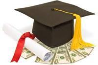 Artist impression of graduation cap with diploma and cash