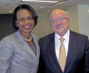 Condoleezza Rice and President Padrón