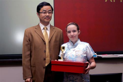 MDC Professor Wensheng 'Kevin' Yang and Confucius Institute student Madison Conroy