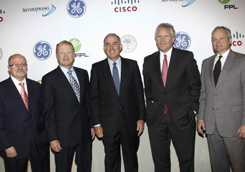 MDC President Dr. Eduardo J. Padrón, John T. Chambers of Cisco Systems, Lewis Hay III of FPL Group, Jeffrey R. Immelt of GE and Scott Long of Silver Spring Networks