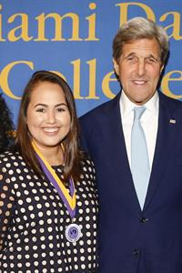 Valentina d'Empaire and John Kerry
