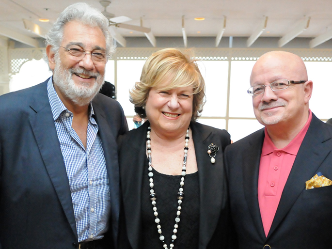 Plácido Domingo, Lin Arison and President Padrón