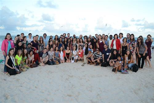 Fulbrighters and MDC professors at South Beach