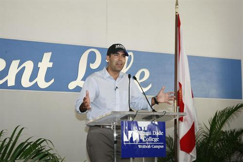George P. Bush at podium