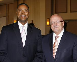 Gerard Robinson with President Padrón.