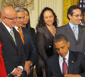 President Obama and Dr. Eduardo Padron