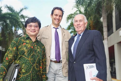 Dr. Franklyn Tan Te; Dr. Lyle Culver and Dr. Michael Lenaghan