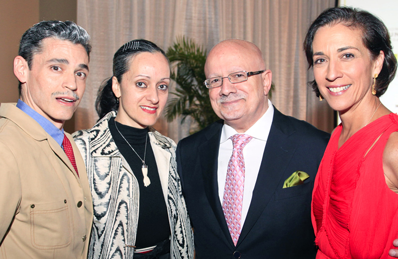 Ruben and Isabel Toledo, President Padrón and Lourdes López
