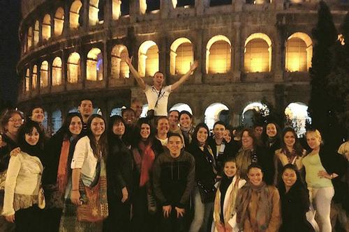 MDC students and professors at the Colosseum
