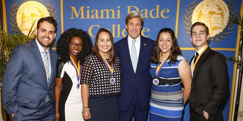 U.S. Secretary of State John Kerry with Honors College students