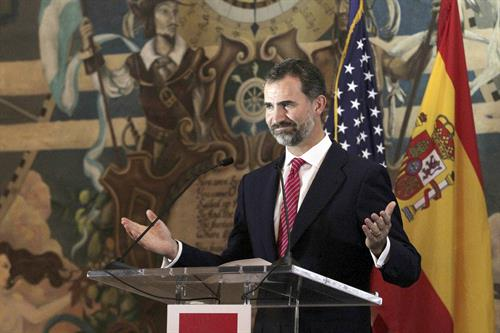 King Felipe VI speaking at MDC in 2013.
