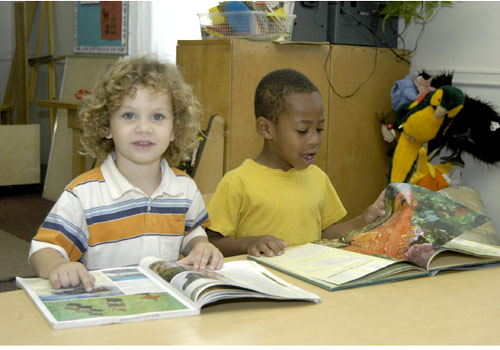 Children reading at MDC's Pre-School Laboratory