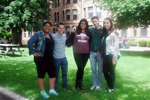 MDC students Shely Ward, Adrián Suárez, Marilyn Figueroa, John Alvarez and Wendy Ruiz
