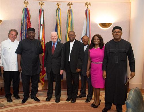 John Richards, Jimmy Carter and Nigerian delegation