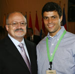 Dr. Eduardo J. Padrón and Mayor Leopold López of Caracas, Venezuela