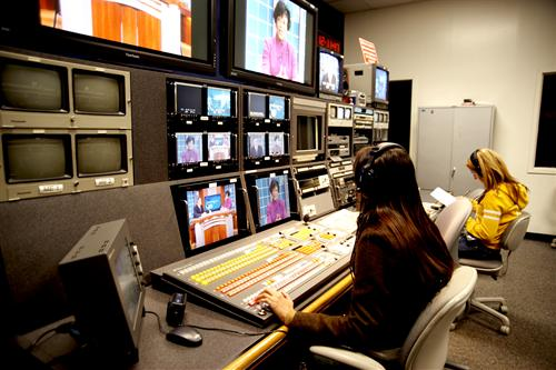 Students working at MDC TV