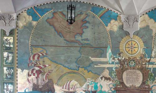 A portion of the New World mural at MDC's Freedom Tower