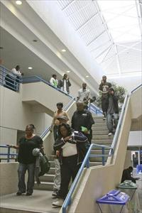 Meek Center - North Campus - Students Descend Stairs