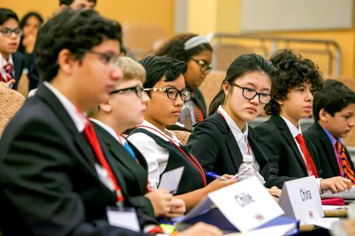Students recently attended the Miami Model United Nations Conferences at North Campus.; Students recently attended the Miami Model United Nations Confer